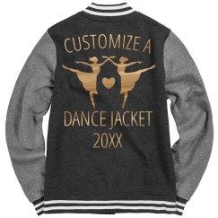 Custom Red Metallic Dance Jacket
