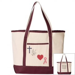 faithhopelovepink-large canvas tote