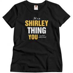 It's a shirley thing