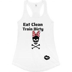 Eat Clean Bow Skull