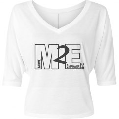 Move To Empower Ladies Flowy Half-Sleeve V-Neck Tee