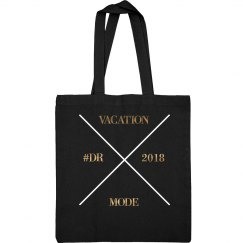 GOLD/BLK TOTE BAG