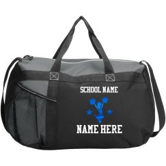 Cheerleader Custom Text Duffel Bag
