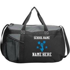 Cheerleader Custom Text Duffel Bag