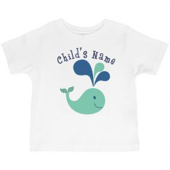 Personalized Child's Whale Shirt