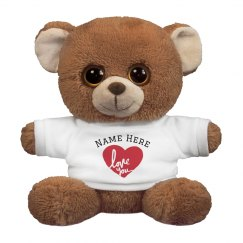 Custom Love You Cute Bear