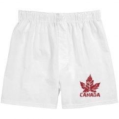 Cool Canada Boxer Shorts Men's Canada Underwear