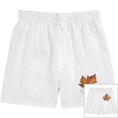Canada Maple Leaf Underwear Men's Canada Boxer Shorts