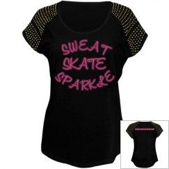 SWEAT, SKATE, SPARKLE T-shirt