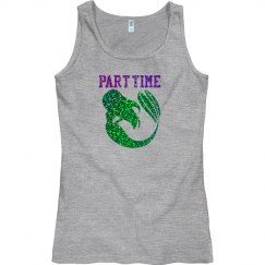 Purple Shells Mermaid Tank Top