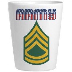 ARMY SFC USA Shot Glass