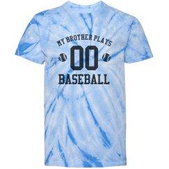 My Brother Plays Baseball Tie-Dye Tee