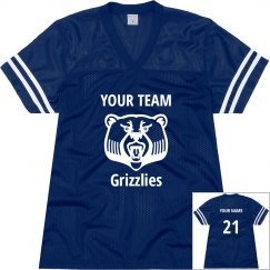 Grizzlies Custom Football Jersey