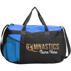 Golden Metallic Gymnastics Design