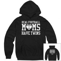Real Football Moms Have Twins Custom Fleece Hoodie