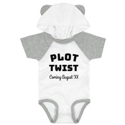 Plot Twist Custom Baby Bodysuit Pregnancy Announcement