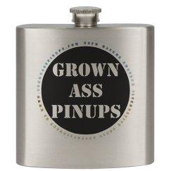 GROWN ASS PINUPS OFFICIAL BADGE FLASK