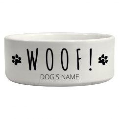 Woof Woof Dog Bowl