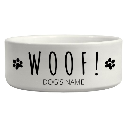 Woof Woof Dog Bowl