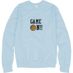 Basketball Game On Sweatshirt blue