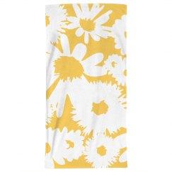 Plant Print Boho Beach Towel
