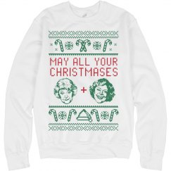 Bea And White Golden Girls Ugly Sweater