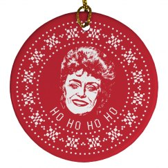 Ho Ho Blanche Ugly Sweater Ornament