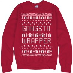 Gangsta Wrapper Ugly Christmas Sweater