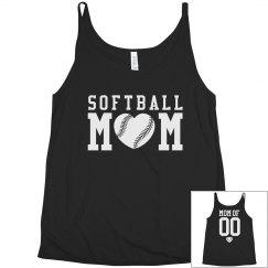 Cute Plus Size Softball Mom Shirt With Custom Back!