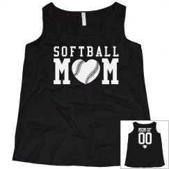 Cute Plus Size Softball Mom Shirt With Custom Back!