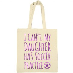 Metallic Soccer Mom Tote Bag