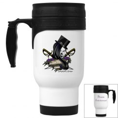 Sirens White Stainless Travel Mug