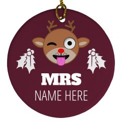 Mr. & Mrs. Christmas Custom Name