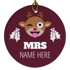 Mr. & Mrs. Christmas Custom Name