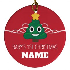 Custom Name Baby's 1st Christmas