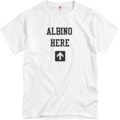 Albino Here- Arrow- Mens White T