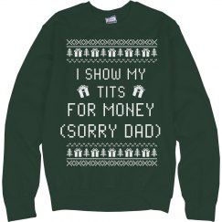 Sorry Dad Christmas Sweater