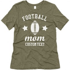 Football Mom Customizable Trendy Tee