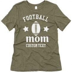 Football Mom Customizable Trendy Tee