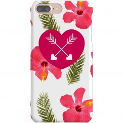 Tropical Floral Print iPhone Case