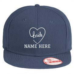 Custom Name Bride Heart Hat