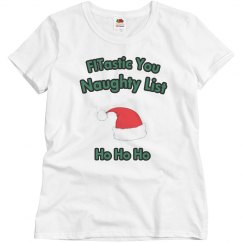 Naughty List White Tee