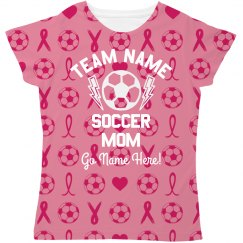 Breast Cancer Soccer Mom Pattern