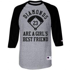 Baseball Diamonds Are A Girls Best Custom Shirt