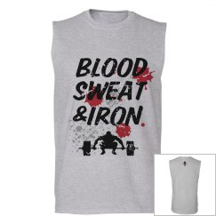 Blood Sweat & Iron mens tank