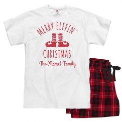 Matching Elffiin' Xmas Pajamas