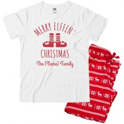 Merry Elfin Christmas Custom PJs