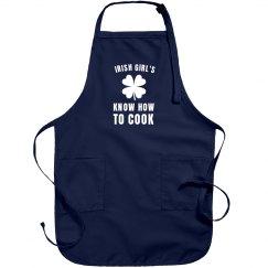 Irish Girls Are Lucky Cooks Apron