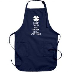 Keep Calm Custom Irish Apron