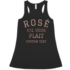 Rose Gold Metallic Custom Rosé Crop